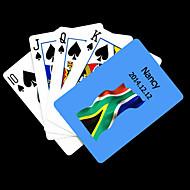 Naipe patrón de la bandera de África regalo personalizado Azul del Sur