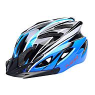 저렴한 -FJQXZ EPS + PC 파란색, 검은 색 일체형으로 성형 순환 헬멧 (18 통풍구)
