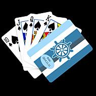 ポーカー用のカードを再生するパーソナライズされたギフトブルーアンカー縞模様