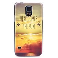 olcso Mobiltelefon tokok-Mert Samsung Galaxy tok Minta Case Hátlap Case Látvány PC Samsung S5