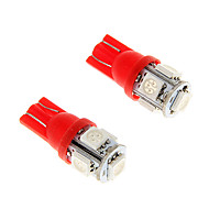 2 stuks ijs rood T10 5-SMD 5050 194 168 1.3W auto LED-indicator licht interieur bollen