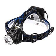 Hodelykter LED 1200 lm 3 lys tilstand Justerbart Fokus / Oppladbar / Vanntett Multifunktion