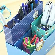 お買い得  文房具-クリエイティブデザインペーパー多機能収納ボックス(ランダムカラー)