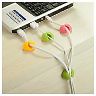 Kabel organizator desktop žice za pričvršćivanje clip uredna usb punjač držač za napajanje 4 kom