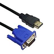 billige -LWM ™ premium hdmi hann til VGA mannlige kabel 10ft 3m for høykvalitets videooverføring