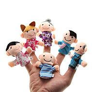 hesapli Oyuncaklar & Hobi Gereçleri-Aile Parmak Kuklalar Kuklalar Tatlı Aile Etkileşimi Ebeveyn-Çocuk Etkileşimi Sevimli Yenilikçi Peluş Genç Kız Hediye 6pcs