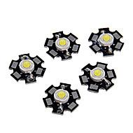 お買い得  -zdm®5ピース高性能led /ハイパワーled coodホワイト6000-6500k 100-120 lm 3 v電球アクセサリーアルミ/純金ワイヤーled ledチップ用diy ledフラッドライトスポットライト/壁面ライト1 w