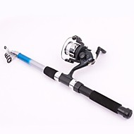 cheap Fishing Accessories-Casting Rod / Fishing Rod / Fishing Rod + Reel Casting Rod Fibre Glass Sea Fishing Rod & Reel Combos