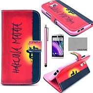 のために HTCケース カードホルダー / ウォレット / スタンド付き / フリップ ケース フルボディー ケース ワード/文章 ハード PUレザー HTC