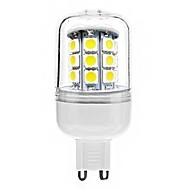 お買い得  LED コーン型電球-G9 5ワット30x5050smd 300LM 6000-6500Kクールホワイト光がトウモロコシのLED電球(AC 220-240V)
