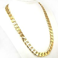 cheap -Men's Curb Chain Necklace - Gold Plated Personalized, Classic, Fashion Gold Necklace 1pc For Daily, Casual, Sports