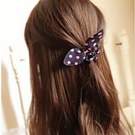 Недорогие $0.99 Модное ювелирное украшение-бантом кроличьи уши простые практические высокой упругой ленты для волос (цвет случайный)