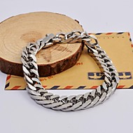cheap -Men's Chain Bracelet - Stainless Steel Unique Design, Fashion Bracelet Silver For Christmas Gifts / Daily / Casual