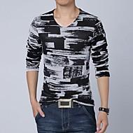 T-shirt de manga comprida Casual Masculina
