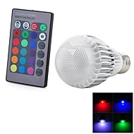 お買い得  LED ボール型電球-1個 5 W 300-500 lm E26 / E27 LEDスマート電球 1 LEDビーズ 集積LED リモコン操作 / 装飾用 / カラーグラデーション RGB 85-265 V / # / RoHs