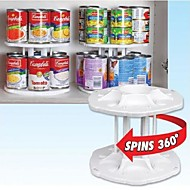 Simple High Quality Creative White Rotating Plastic Racks&Holders