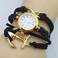 tanie Zegarki boho-Damskie Modny Zegarek na bransoletce Kwarcowy Skóra Pasmo Artystyczny Czarny Biały Niebieski Czerwony Brązowy Różowy Rose