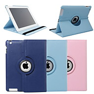 Map Pattern Style 360 Degree Rotating PU Leather Case & Stand for iPad 2/3/4 (Brown)