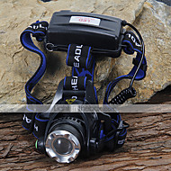 Hodelykter Frontlykt LED 1200 lm 3 Modus Cree XM-L T6 Camping/Vandring/Grotte Udforskning Sykling Klatring Svart