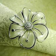 mão anel de flor guardanapo, beades acrílico, 4,5 centímetros, conjunto de 12