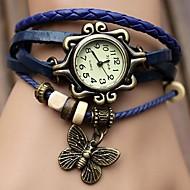 voordelige Bohémien horloges-Dames Modieus horloge Dress horloge Kwarts PU Band Vlinder Bohémien Zwart Blauw Orange Bruin Groen