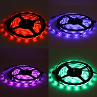 abordables Tiras de Luces LED-5m impermeable 150x5050 luz rgb SMD lámpara tira llevada con 24 botones de referencia del controlador remoto (12v)