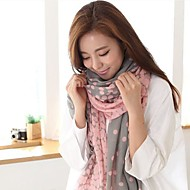 cheap Scarves & Wraps-Women's Cute Party Cotton Square - Circle Modern Style