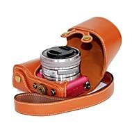 halpa -dengpin® Sony a5100 ilce-5100l nahka kameralaukku laukku kansi olkahihna latauksen tyyli