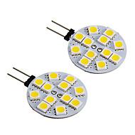 G4 2W 12x5050SMD 150LM Warm/Cool White Light LED Spot Bulb(DC12 2PCS)