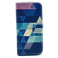 Varten iPhone 5 kotelo Lomapkko / Korttikotelo / Tuella / Flip / Kuvio Etui Kokonaan peittävä Etui Geometrinen printti Kova Tekonahka