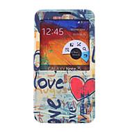 Для Samsung Galaxy Note со стендом / с окошком / Флип / С узором Кейс для Чехол Кейс для Слова / выражения Искусственная кожа SamsungNote