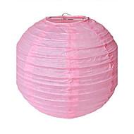 abordables Pañuelos-10 pulgadas de linterna de papel redonda china (más colores) armario de almacenamiento