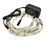 jiawen® 2.5m 10w 150x3528smd 3000-3200K bianco caldo ha condotto la luce di striscia flessibile di alimentazione + 2 bis (CA 110-240V)