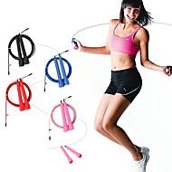 麒麟スポーツ™のクロスフィットスピードcanleワイヤースキップ縄跳び長さ調節可能心臓の心臓