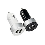 Car Charger Phone USB Charger Multi Ports 2 USB Ports 2.1A 1A DC 12V-24V For iPad For Cellphone