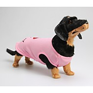 Dog Shirt / T-Shirt Dog Clothes Cotton Spring/Fall Summer Casual/Daily Letter & Number Pink Costume For Pets