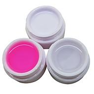 3db fehér átlátszó rózsaszín 14ml köröm uv zselé