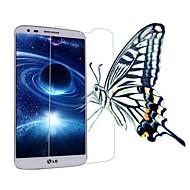 alta transparencia de cristal LCD protector de pantalla transparente profesional con paño de limpieza para lg g2