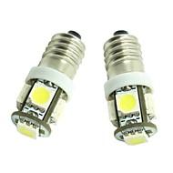 billiga -2pcs E10 Bilar Glödlampor 1.2W SMD 5050 70-90lm 5 LED innerbelysningen For Universell