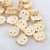 Cat Head Scrapbook Scraft Sewing DIY Wooden Buttons(10 PCS)