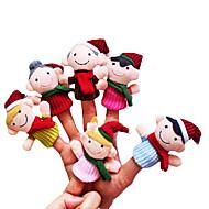 voordelige Benodigdheden voor de feestdagen-Speeltjes Vingerpoppetjes Noviteit Cartoon tekstiili Meisjes Jongens Geschenk 6pcs
