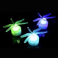 lumière de nuit libellule acrylique coloré conduit