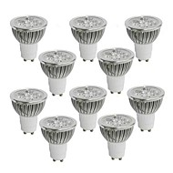 4W GU10 LED Spotlight 4 leds High Power LED Warm White Cold White Natural White 350-400lm 2800-3000/4000-4500/6000-6500K AC 85-265V