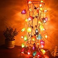jiawen® 4m 20leds LED-uri RGB in forma de inima șir lumina lumina șir de Crăciun pentru decorare (110-220V ac)