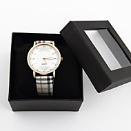 voordelige Gepersonaliseerde horloges-Gepersonaliseerd cadeau Horloge, Analoog Kwarts Horloge With Legering Materiaal PU Band Modieus horloge Waterdichtheid Diepte