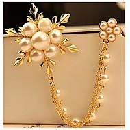 お買い得  -女性用  -  人造真珠 ファッション ブローチ 用途 パーティー / 日常 / カジュアル