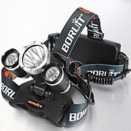 4mode Linternas de Cabeza Luces para bicicleta Faro Delantero LED 5000 lm 4.0 Modo Cree XM-L T6 Resistente a Golpes Recargable Impermeable