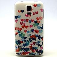 Для Кейс для  Samsung Galaxy С узором Кейс для Задняя крышка Кейс для С сердцем TPU Samsung S5 Mini
