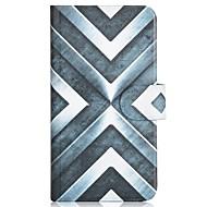 Для Кейс для  Samsung Galaxy Бумажник для карт / со стендом / Флип / С узором Кейс для Чехол Кейс для Геометрический рисунокИскусственная