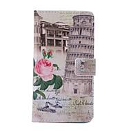 Для Samsung Galaxy Note Кошелек / Бумажник для карт / со стендом / Флип / С узором Кейс для Чехол Кейс для Панорама городаИскусственная